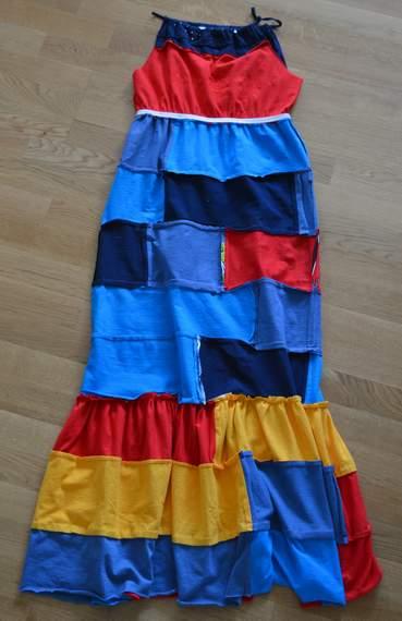 VBS shirt refashion t-shirt quilt patchwork maxi dress 12'