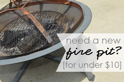 01 fire pit for under $10