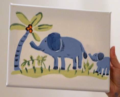 09 neighborhood moms craft night painting elephant