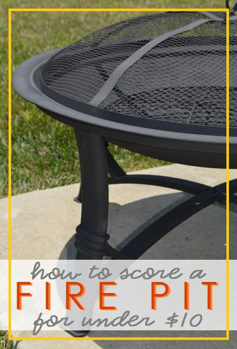 11 fire pit for under $10 after