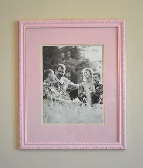 chunky pink frame makeover 11