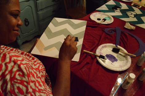 july craft party chevron door sign 04