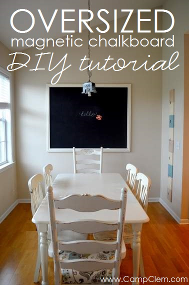 CampClem DIY framed mega magnetic chalkboard tutorial