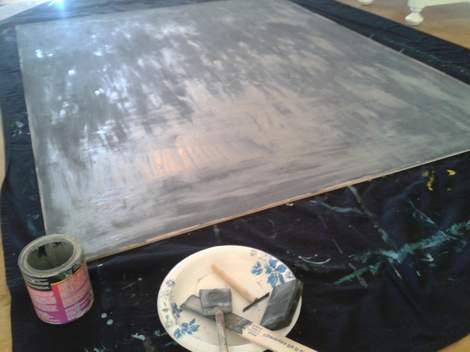 DIY framed mega magnetic chalkboard 08