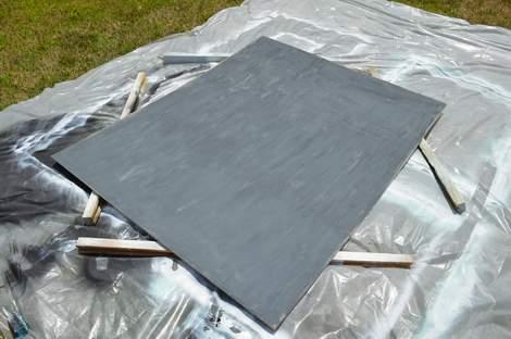 DIY framed mega magnetic chalkboard 10