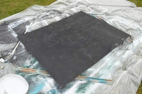 DIY framed mega magnetic chalkboard 11