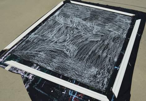 DIY framed mega magnetic chalkboard 15