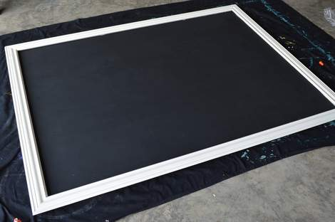 DIY framed mega magnetic chalkboard 20