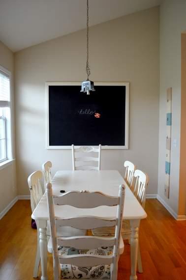 DIY framed mega magnetic chalkboard 21