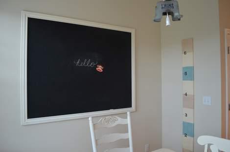 DIY framed mega magnetic chalkboard 22
