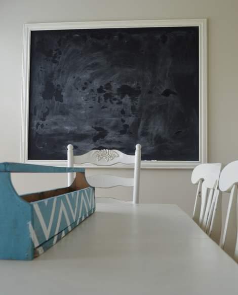 DIY framed mega magnetic chalkboard 26
