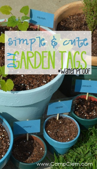 simple & cute DIY waterproof garden tags