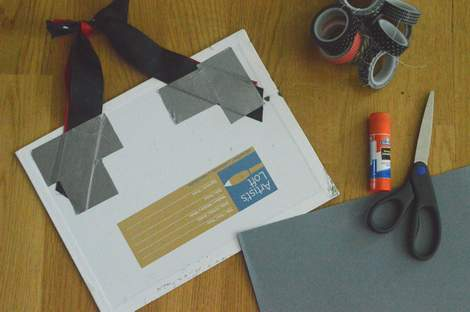 04 just the simplest way to make a teacher name board back duct tape
