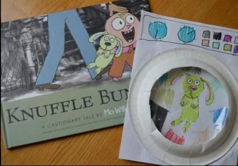 05 Knuffle Bunny book and washing machine