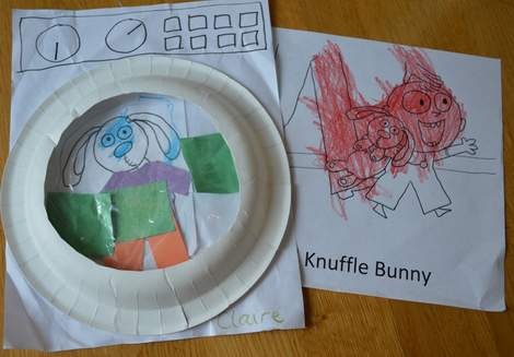 20 Knuffle Bunny finished washing machine and coloring sheet