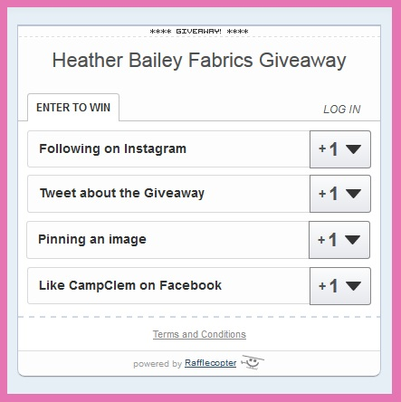 heather bailey challenge rafflecopter