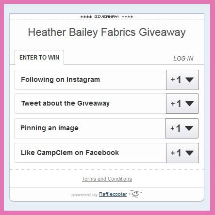 heather bailey challenge rafflecopter