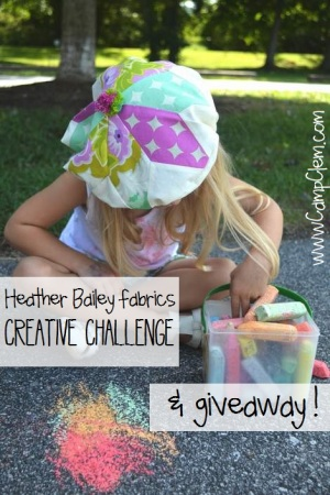 heather bailey fabric creative challenge and giveaway beret