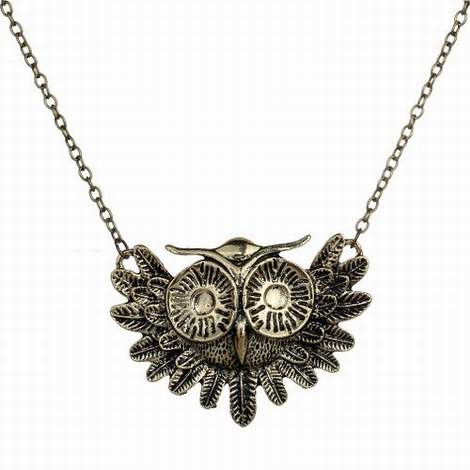 new owl necklace makeover before
