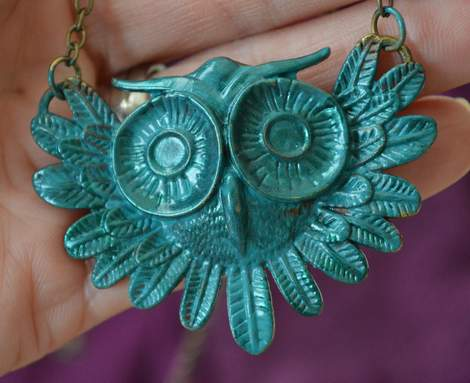 new owl necklace makeover