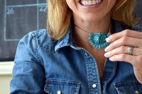 new owl necklace turquoise nailpolish makeover after'