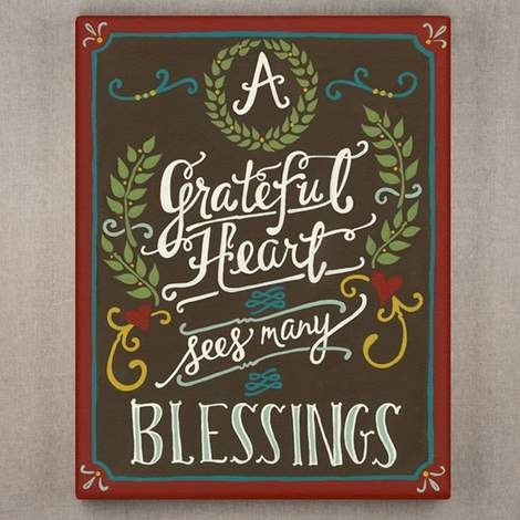 A Grateful Heart - Wrapped Canvas Print