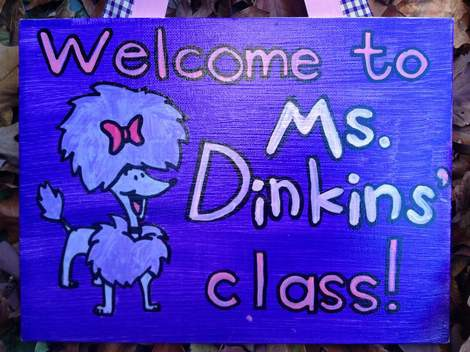 Clifford cleo dinkins teacher name board sign 03