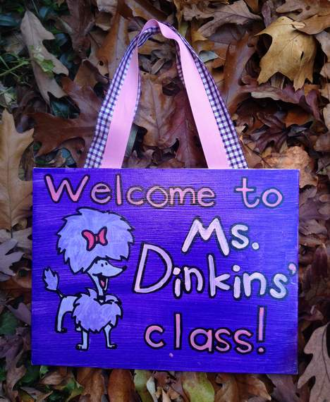 Clifford cleo dinkins teacher name board sign 05