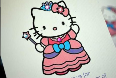 DIY hello kitty princess birthday party invitations 01