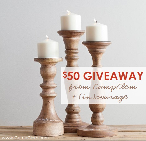 everlasting light collection candlesticks giveaway