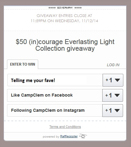 everlasting light collection rafflecopter giveaway