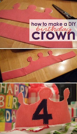 how to make a DIY felt birthday crown