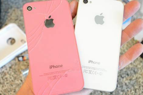 iPhone 4s cracked screen fix like a boss 05