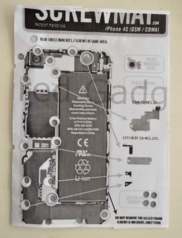 iPhone 4s cracked screen fix like a boss 09 screw mat