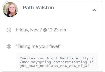 patti ralston dayspring winner