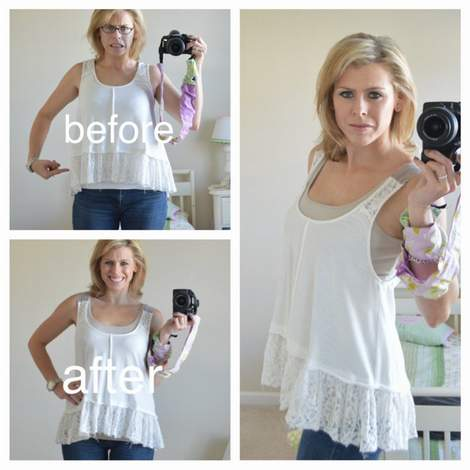 001 ruffled tank strap extension makeover before and after