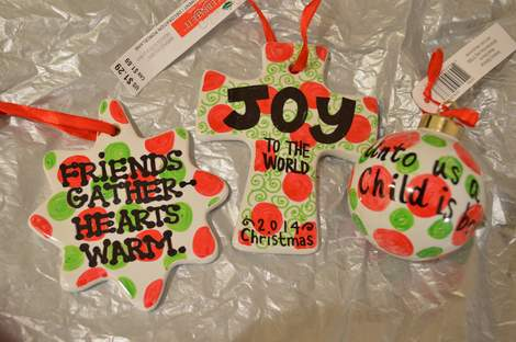 03 DIY handpainted ceramic Christmas ornament