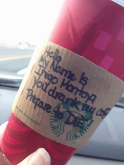 111 princess bride inigo montoya mug denise starbucks cup