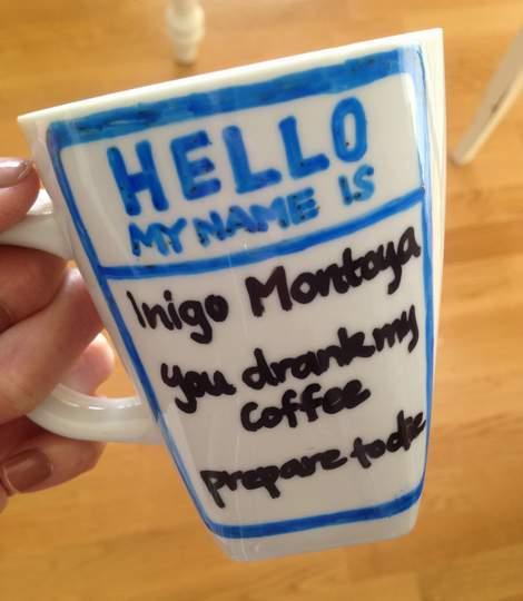 116 princess bride inigo montoya mug oil based sharpie
