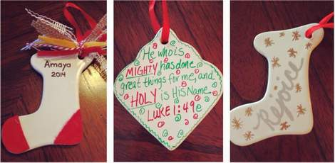 14 DIY handpainted ceramic Christmas ornament