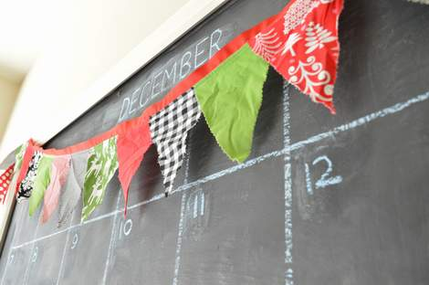 simple DIY Christmas pennant 02