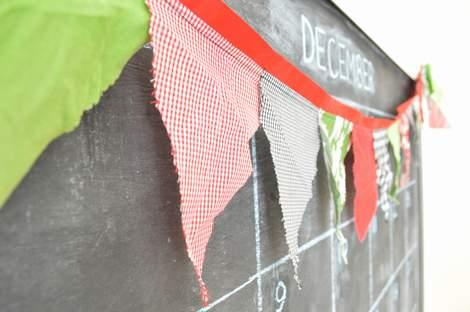 simple DIY Christmas pennant 05