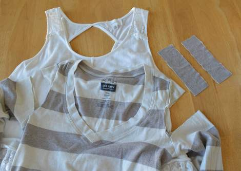 009 ruffled tank strap extension makeover