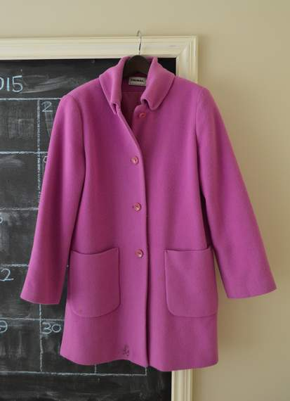 08 colorful wool coat makeover
