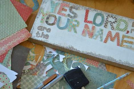 burlap canvas makeover 05