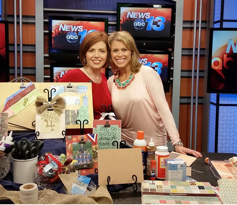 live news craft corner segment Victoria and me