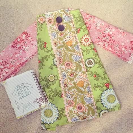 mixed prints square neck dress 03