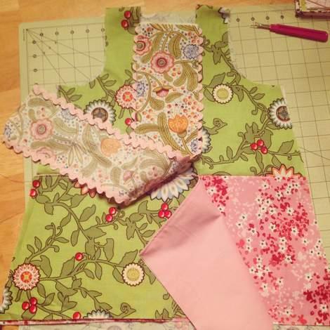 mixed prints square neck dress 04